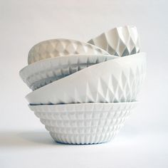 Verena Stella ceramics | Someone should make cutlery and crockery with a 3D printer! You're welcome for that brilliant idea.
