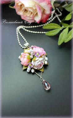 Cute Polymer Clay, Polymer Clay Flowers, Polymer Clay Pendant, Polymer Clay Crafts, Polymer Clay Jewelry, Polymer Clay Creations, Beaded Jewelry, Handmade Jewelry, Biscuit