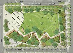 Suchang park, daegu, korea - Another! Landscape Design Plans, Landscape Architecture Design, Architecture Plan, Park Landscape, Urban Landscape, Poket Park, Masterplan, Urban Park, Parking Design