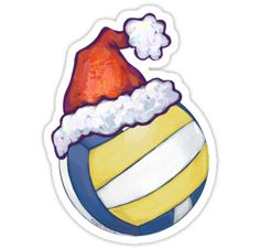 "Volleyball Christmas"" Stickers by ImagineThatNYC 