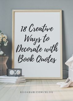 Love the aesthetic of book quote decor? Let these creative ideas inspire you to incorporate it into your own home.  #books #quotes #decorating Bookshelf Plans, Bookshelves, Cute Door Mats, Library Inspiration, Literary Quotes, Decor Crafts, Home Decor, Own Home, Book Quotes