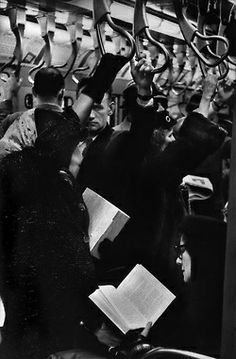 Subway, New York, 1959 by Henri Cartier Bresson Candid Photography, Urban Photography, Underwater Photography, Abstract Photography, Street Photography, Magnum Photos, Henri Cartier Bresson Photos, People Reading, Foto Poster