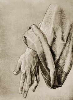 Dürer, Hand of Apostle / Draw./ - Albrecht Dürer as art print or hand painted oil. Life Drawing, Figure Drawing, Drawing Sketches, Art Drawings, Drawings Of Hands, Albrecht Durer Paintings, Hand Kunst, Tarot, Dark Art