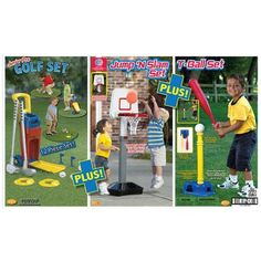 American Plastic Toys 3-in-1 Sports Set - Walmart.com