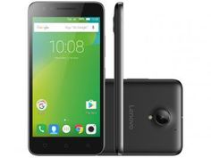 "Smartphone Lenovo Vibe C2 16GB Preto Dual Chip 4G - Câm. 8MP + Selfie 5MP Tela 5"" HD Proc. Quad Core"
