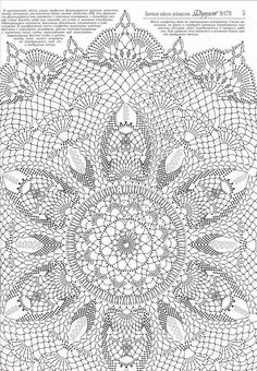 ↦ Crochet string rug - Learn how to make amazing model. - Her Crochet Filet Crochet, Crochet Doily Diagram, Crochet Mandala Pattern, Crochet Doily Patterns, Crochet Afghans, Thread Crochet, Irish Crochet, Crochet Designs, Crochet Stitches