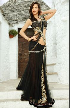 Indian Bridal and Casual Saree - Lehenga Choli Indian Dresses, Indian Outfits, Indian Clothes, Indian Lehenga, Lehenga Saree, Indian Bridal Fashion, Stylish Sarees, Casual Saree, Pakistani Designers