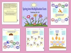 This packet of colorful SPRING WORKSHEETS will help to reinforce the 6-9 MULTIPLICATION FACTS. There are 4 worksheets and answer pages.