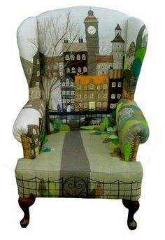 Cool Furniture Inspiration – My Life Spot Painted Chairs, Hand Painted Furniture, Funky Furniture, Upholstered Furniture, Upcycled Furniture, Unique Furniture, Furniture Makeover, Furniture Design, Chair Design