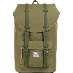#Backpacks, #HerschelSupplyCo, #LaptopBackpacks - Herschel Supply Co. Little America Weather Pack Army Rubber - Herschel Supply Co. Laptop Backpacks