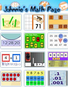 Johnnie's Math Page is the place to find hundreds of fun and engaing math activities for students and their teachers.