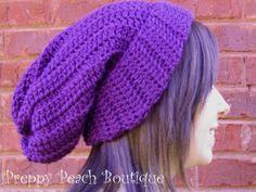 Paramore Decode Haley Hat Dark Plum Purple Crochet  by preppypeach, $19.95