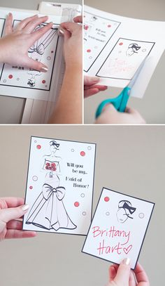 DIY - Will you be my Bridesmaid? FREE downloads!!!