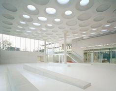 Forum am Eckenberg-Gymnasium in Adelsheim, Ecker Architekten, Innenraum