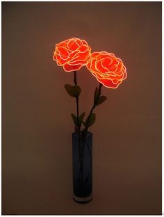 Neon roses? Say no more. @thecoveteur