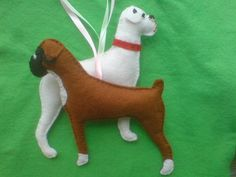 Boxer Dog...Hand embroidered/detailed by SheepInStitches on Etsy