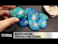 DIY How to make Realistic Natural Turquoise Stone. Stone imitation technique. VIDEO Tutorial- YouTube