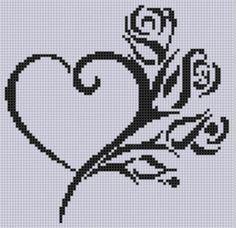 Heart Roses Cross Stitch Pattern  | Craftsy