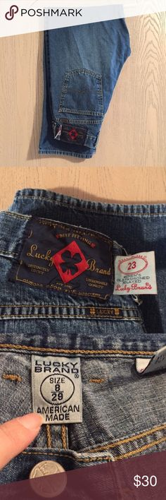 Lucky Jeans Sz 8/29 - Navy Tag with Red Diamond 🔹Lucky Jeans Sz 8/29 - Navy Tag with Red Diamond.  Zip fly. Lucky Brand Jeans