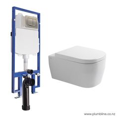 Hero 53 Wall Hung White Toilet Package/Mechanical Cistern - Hero - Toilets & Bidets - Bathroom