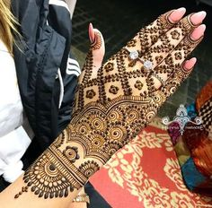 Heavy Loaded Hand Henna Designs for Girls
