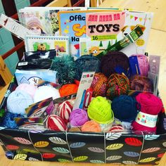 """Treacle Wool Shop @treaclewoolshop www.treaclewoolshop.co.uk """"Bumper box of #woolly loveliness for Celebrate Your #Yarn Shop day raffle tomorrow at the shop in #Morpeth 10-4"""""""