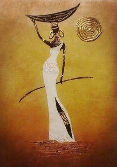 Best 12 African woman on canvas – SkillOfKing. African Drawings, African Art Paintings, African Artwork, Afrique Art, African American Art, South African Art, Acrylic Art, Acrylic Paintings, Tribal Art