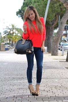 Apricot neon   Cheetah heels