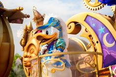 Donald sur son char de Disney's Stars on Parade