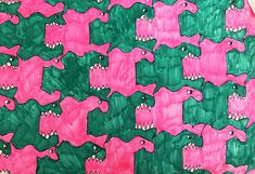 Pattern, 2007 (Age Marker and pen on paper 18 by 24 inches This assignment for this artwork revolved around creating a template that you could trace. Fish Eat Fish, Monster Fishing, Apple Model, Fish Design, Canvas Prints, Art Prints, Photo Canvas, Repeating Patterns, Illusions