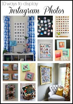 See how to display Instagram photos in your home on the walls, surfaces, and more. These ideas will have you printing all of your Instagrams!