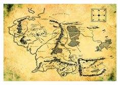 Map of Middle Earth 16x20 Hobbit Print Poster. $19.95, via Etsy.