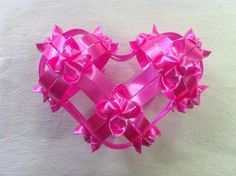 Valentines Crafts : DIY Heart From Ribbon - DIY Valentine Decorations