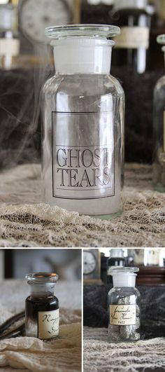 Ghost tears: achieved by using propylene glycol and alcohol with black food coloring.