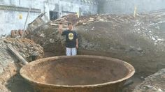 Giant Frying pan like object discovered in Central Java