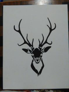 Stag Painting on Canvas Panel by AriEagle on Etsy
