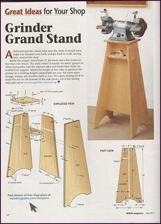 Builds up to 16000 Carpentry Projects - Grinder Stand Plans Builds up to 16000 Carpentry Projects - Get A Lifetime Of Project Ideas and Inspiration! Carpentry Courses, Woodworking Courses, Easy Woodworking Projects, Woodworking Bench, Fine Woodworking, Woodworking Projects Plans, Diy Wood Projects, Woodworking Joints, Woodworking Techniques