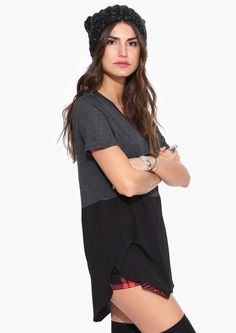 Half Moon Top in Charcoal   Necessary Clothing