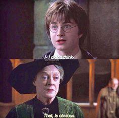 Harry and Professor McGonagall
