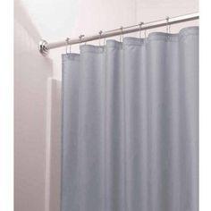 InterDesign Mildew Free Water Repellent Fabric Shower Curtain Liner Various Sizes Blue