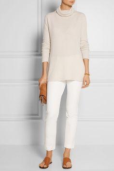The Row   Keola ribbed cashmere turtleneck sweater   NET-A-PORTER.COM