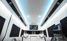Ultimate Business Man Coach, Custom Interior Mercedes Benz Sprinter Van Conversion & Luxury Mobile Offices.