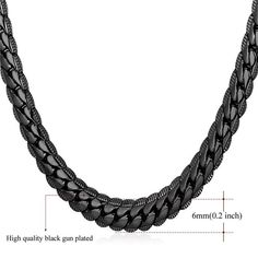 Neck Link Chains for Men Man Women Boys Male Military Silver Chain Cuban Stainless Steel Jewelry 20 22 24 26 28 30 inch DODIY 6mm Curb Mens Necklace