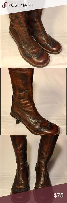 Materia Prima Boots  / not Reformation / Materia Prima by Goffredo Fantini Brown boots / Made is Italy / Leather Boots / cowboy boots / Italian boots / cute boots / Not Reformation / great condition / 👢😋 Reformation Shoes Heeled Boots