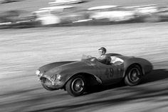 Paramount Ranch on March 10, 1957.     Richie Ginther, who went on to a fabled career driving Formula One cars for Ferrari and Honda, finished 3rd here in this Aston Martin DB3S.