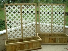 Instant privacy and somewhere to plant.  Want to do this for the deck