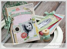 Altered box w/mini album - Carta Bella  by HappyLifeCraftyWife @Two Peas in a Bucket