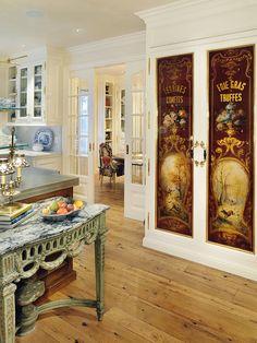 Eglomise Pantry Doors  www.lindafloyd.com