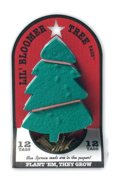 Tree tag and ornament seed paper