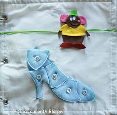 """Cinderella's glass slipper and Gus-Gus quiet book ideas. The """"shattered"""" glass slipper is a puzzle too!"""